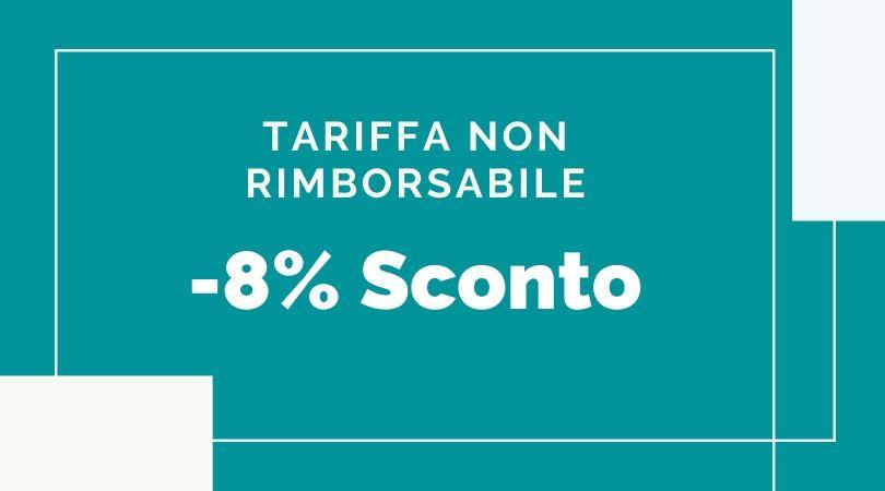 Tariffa Non Rimborsabile 8%